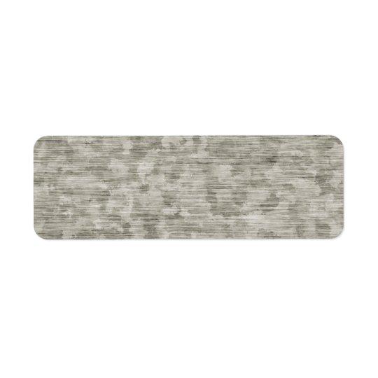 Blotchy Anodised Metal Textured Return Address Label