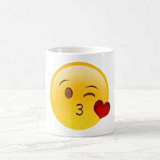 Blow a kiss emoji mug