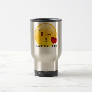 Blow a kiss emoji mug - add your own text