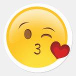 Blow a kiss emoji sticker