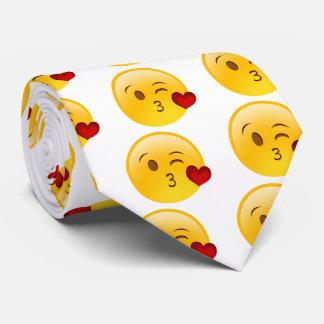 Blow a kiss emoji tie