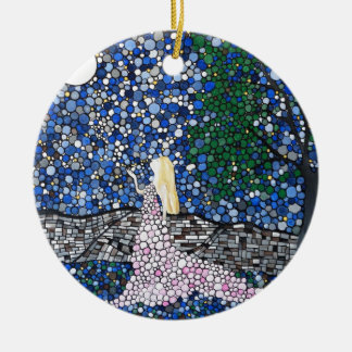 Blow a kiss to the moon christmas ornament