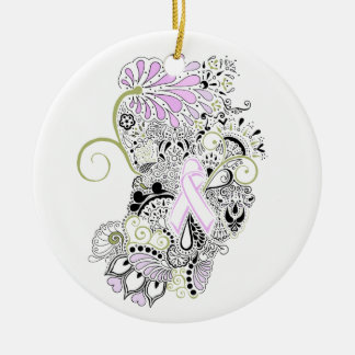 Blow Away Breast Cancer Christmas Ornament