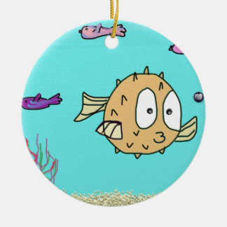 blow fish christmas ornament