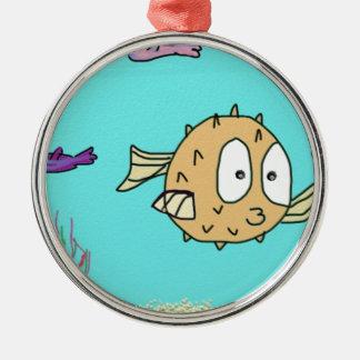 blow fish christmas ornament