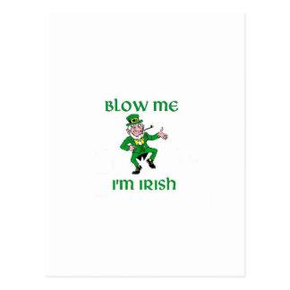 Blow Me I'm Irish Postcard