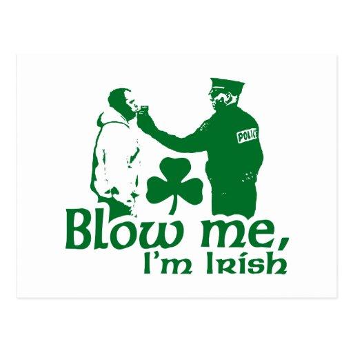 Blow Me I'm Irish Post Card
