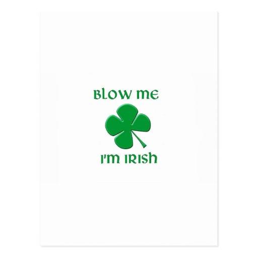 Blow Me I'm Irish Postcards