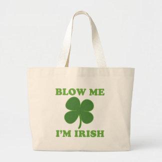 Blow Me Im Irish Jumbo Tote Bag