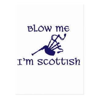Blow me i'm Scottish Postcard
