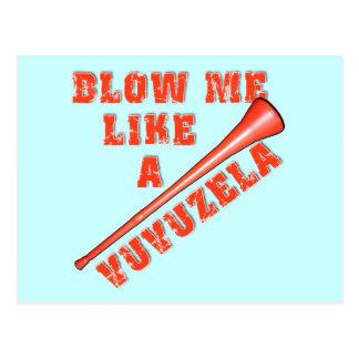 Blow Me Like a Vuvuzela Funny Tshirts Postcards