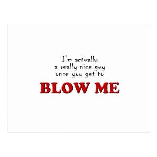 Blow-me Postcards