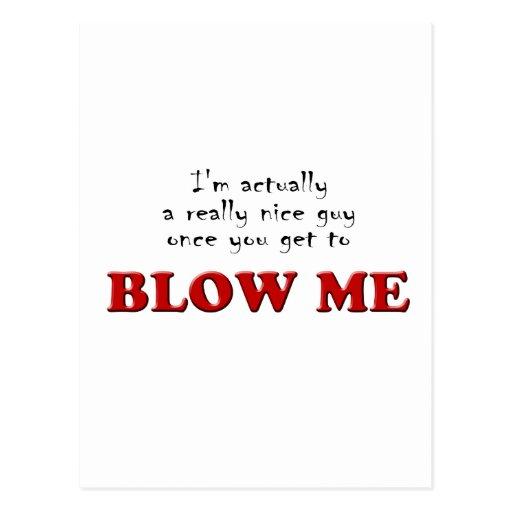 Blow-me Postcard