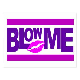 Blow Me postcard - customizable
