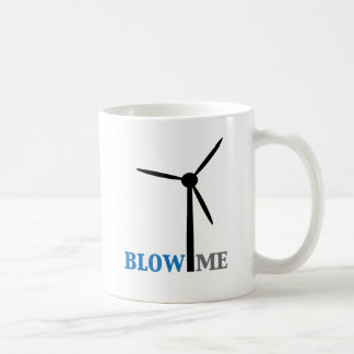 blow me wind turbine basic white mug