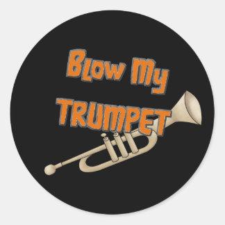 Blow My Trumpet Classic Round Sticker