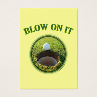 Blow On It Golf Business Card