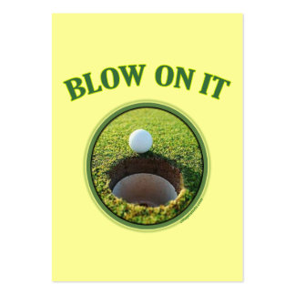 Blow On It Golf Business Cards