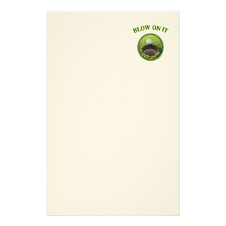 Blow On It Golf Personalized Stationery