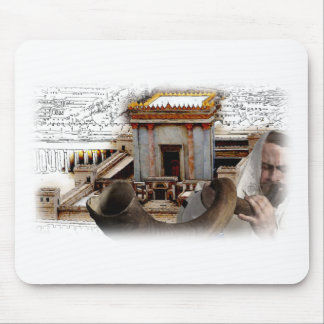 Blow the Shofar in Zion Mouse Mat