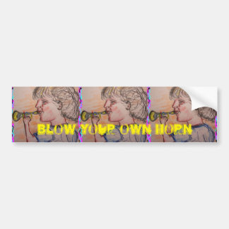 blow your own horn bumper sticker