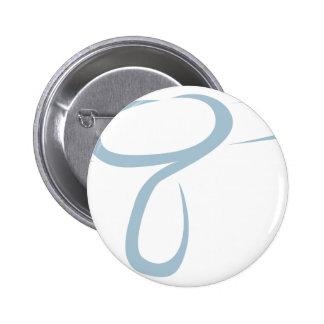 Blowdryer for Hairdresser's Logo in Swish Drawing 6 Cm Round Badge