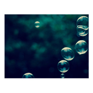 Blowing Bubbles Abstract Photography Postcard
