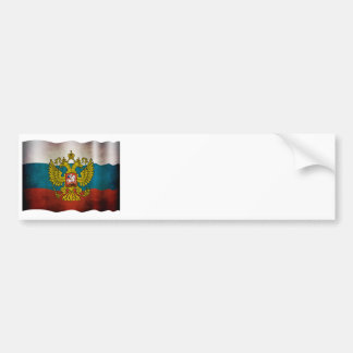 Blowing flag of Russia Bumper Sticker