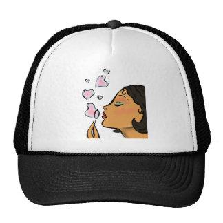 Blowing Heart Bubbles Shirt Mesh Hats