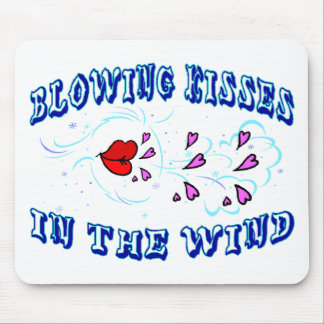 Blowing Kisses Mouse Pad