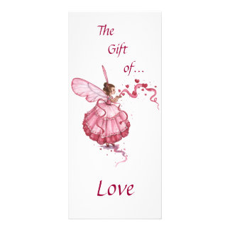 Blowing pink Hearts Rack Card