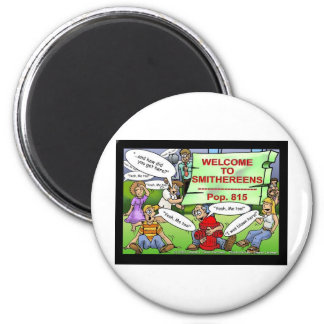 Blown 2 Smithereens Funny Gifts & Tees 6 Cm Round Magnet