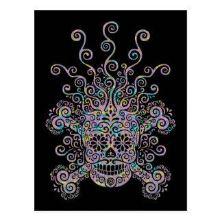 Blown Mind Sugar Skull Postcard