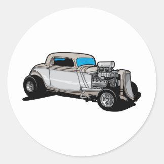 Blown Street Rod Classic Round Sticker