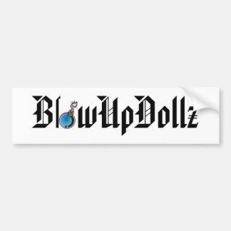 BlowUpDollz Bumper Sticker with Bomb