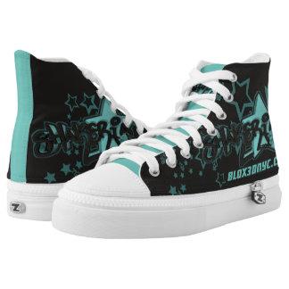 Blox3dnyc.com urban star design for Shakeria Printed Shoes