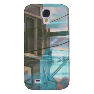 Blu Binary Fog Galaxy S4 Case