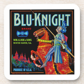 Blu Knight Fruit Label Drink Coasters