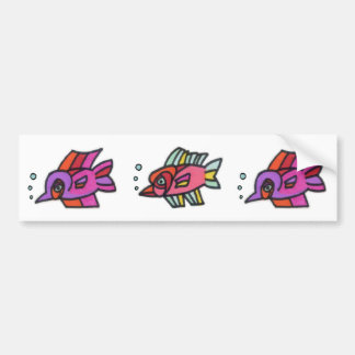 Blub Fish Trio Bumper Sticker