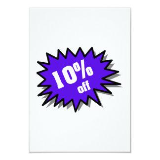 Blue 10 Percent Off 9 Cm X 13 Cm Invitation Card