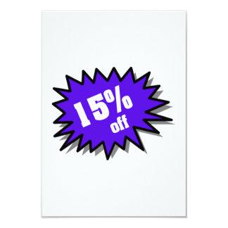 Blue 15 Percent Off 9 Cm X 13 Cm Invitation Card