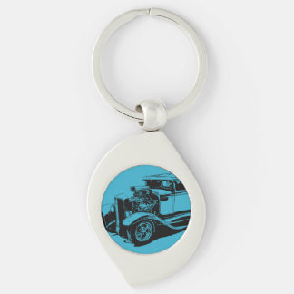 Blue 1931 5 Window Coupe Key Chains