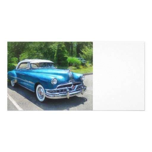 Blue 1951 Pontiac Photo Greeting Card