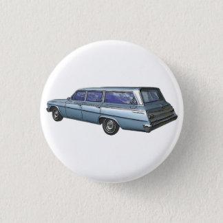 Blue 1962 Chevrolet station wagon. 3 Cm Round Badge