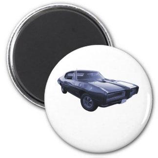 Blue 1968 Pontiac GTO Refrigerator Magnet