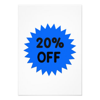 Blue 20 Percent Off Personalized Announcements