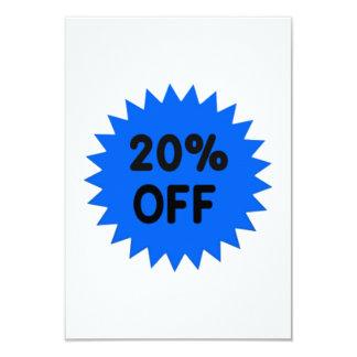 Blue 20 Percent Off 9 Cm X 13 Cm Invitation Card