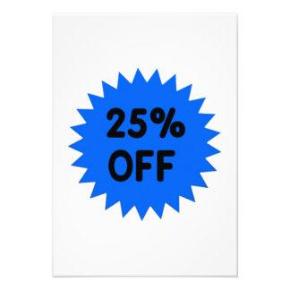 Blue 25 Percent Off Custom Invite