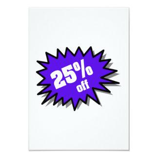 Blue 25 Percent Off 3.5x5 Paper Invitation Card