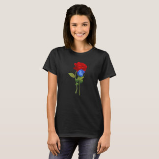 Blue 2 red rose shirt